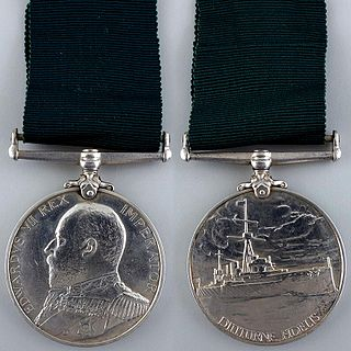 British Empire naval volunteer medal for part time ratings