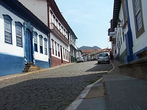 Sabará - Historical buildings from the colonial period in Sabará.