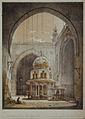 Rudolf von Alt - Notranjščina mošeje sultana Hasana v Kairu.jpg