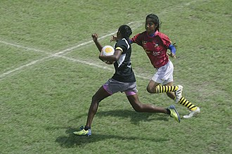 Rugby union in India - A Women's Rugby Match in progress during the All India and South Asia Rugby Tournament
