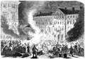 Russian Imperial Army demolishing Zamoyski Palace in Warsaw after assassination attempt 1863.png