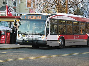 Rutgers Campus Buses - Image: Rutgers H bus side