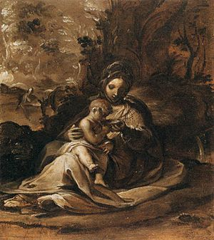 Rutilio di Lorenzo Manetti - Image: Rutilio Manetti The Rest on the Flight into Egypt WGA13919