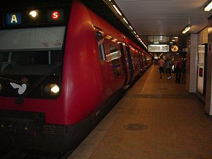 A (S-train) - A train at Nørreport station