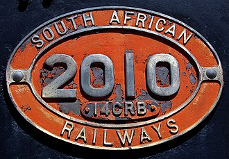 South African locomotive numbering and classification - Number plate on Class 14CRB 2010