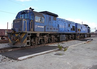South African Class 35-000 - No. 35-041 in Spoornet livery in the OREX yard, Saldanha, Western Cape, 12 September 2007