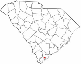 Parris Island, South Carolina - Image: SC Map doton Parris Island