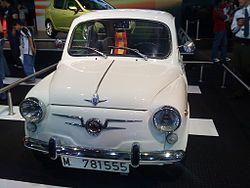 "Early series Seat 600 D. Note the ""suicide doors"""