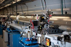 SLAC National Accelerator Laboratory - Part of the SLAC beamline