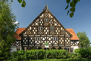 Olędrzy - A timberframed house in the village of Stalewo, Poland