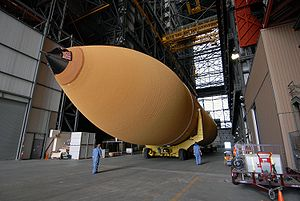 STS-125 external tank arrival at VAB.jpg