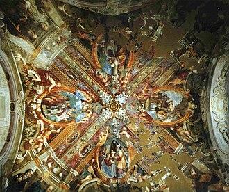 Certosa di Parma - Frescoed ceiling of sacristy.