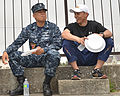 Sailor and soldier enjoy lunch. (9151075813).jpg