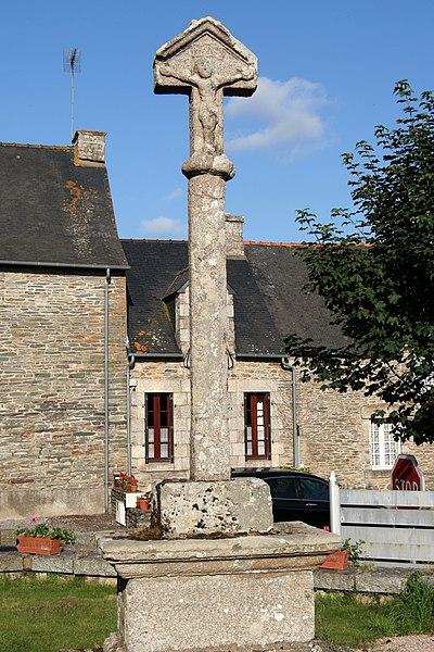 La croix de cimetière de Saint-Abraham: face ouest.