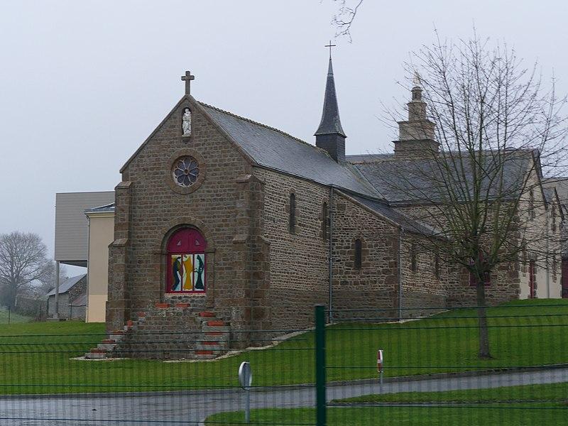 EHPAD in Saint-Fraimbault (Mayenne, Pays de la Loire, France).