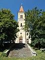 Saint Ladislaus church upper stairs in Veszprém, 2016 Hungary.jpg