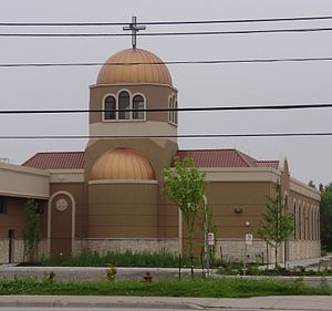 Coptic Canadians - St. Mina and St. Kyrillos Coptic Orthodox Church in Mississauga, Ontario.