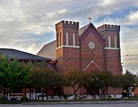 Saint Patrick Church (Columbus, Ohio) - exterior at dawn.jpg