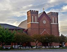 Saint Patrick Church (Columbus, Ohio) - exterior at dawn.jpg