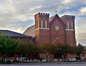 Saint Patrick Church (Columbus, Ohio) - Image: Saint Patrick Church (Columbus, Ohio) exterior at dawn