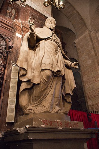 Sylvius of Toulouse - Statue of St. Sylvius.  Basilica of St. Sernin, Toulouse.