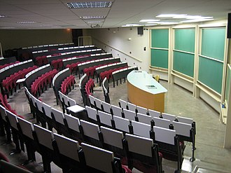 Classroom in University of Campinas in Campinas. Sala de aula CB Unicamp.jpg