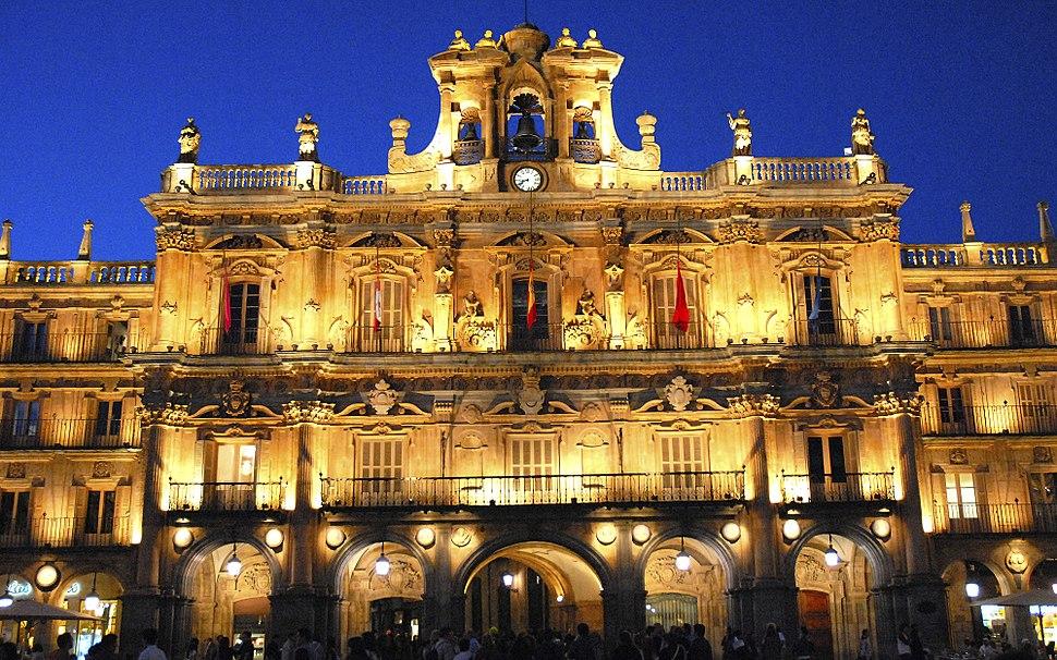 Salamanca Ayuntamiento por la tarde