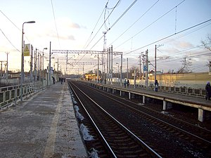 Saltykovskaya view from 1st platform to west 2.jpg