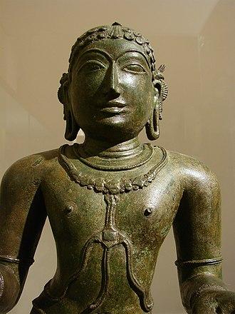 Thirumangai Alvar - Thirumangai is described to have met the Shaiva saint Thirugnana sambandhar (pictured).