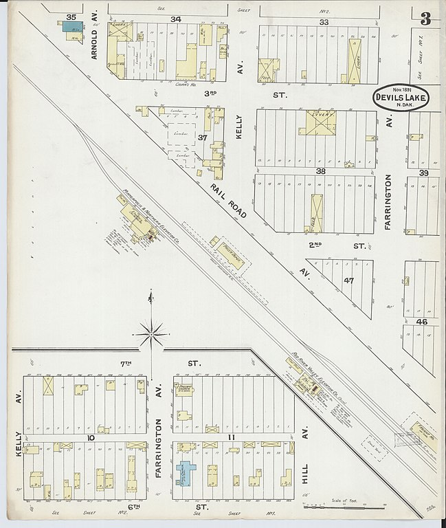 File Sanborn Fire Insurance Map from Devils Lake Ramsey County