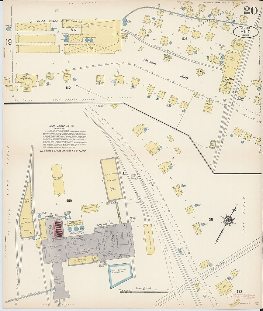 File Sanborn Fire Insurance Map from Hilo Hawaii County Hawaii