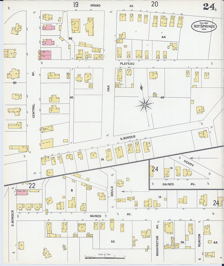File Sanborn Fire Insurance Map from Hot Springs Garland County
