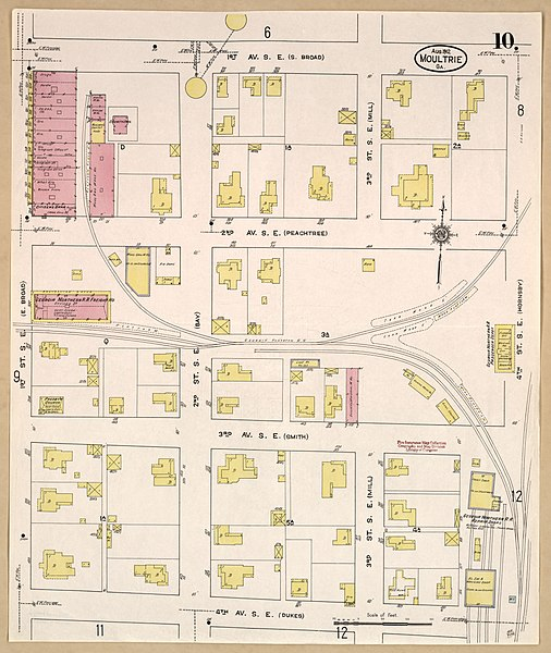 File Sanborn Fire Insurance Map from Moultrie Colquitt County
