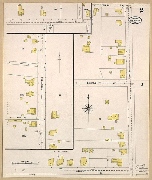 File Sanborn Fire Insurance Map from Newnan Coweta County Georgia
