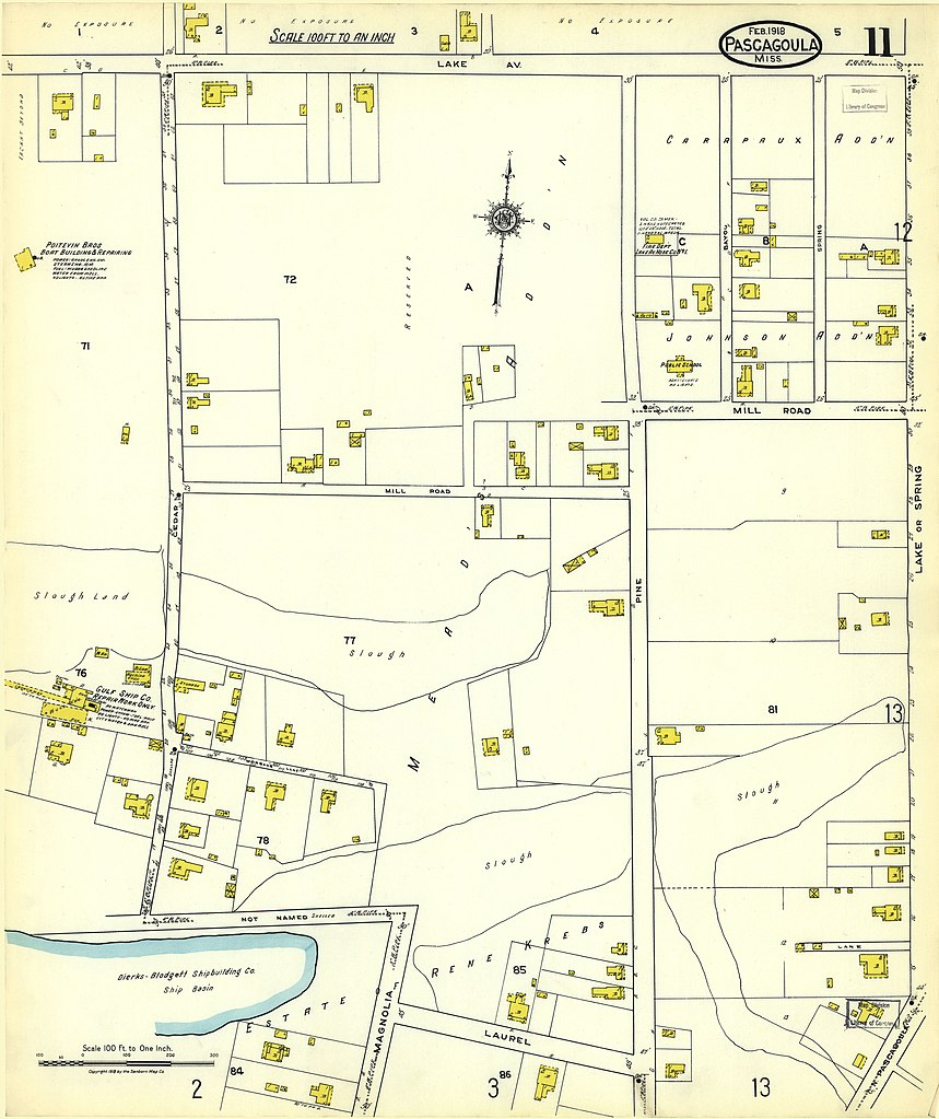 File Sanborn Fire Insurance Map from Pascagoula Jackson County