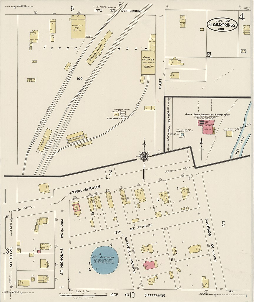 File Sanborn Fire Insurance Map from Siloam Springs Benton County