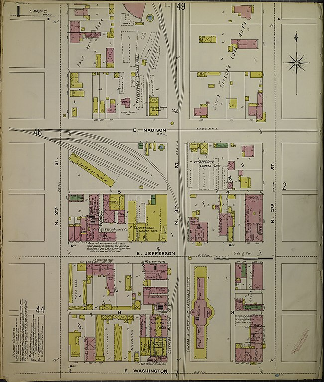 File Sanborn Fire Insurance Map from Springfield Sangamon County