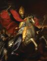 Sant'Ambrogio a cavallo scaccia gli ariani - Figino.png