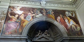 Santa Maria della Pace - Sibyls receiving angelic instruction by Raphael, 1514
