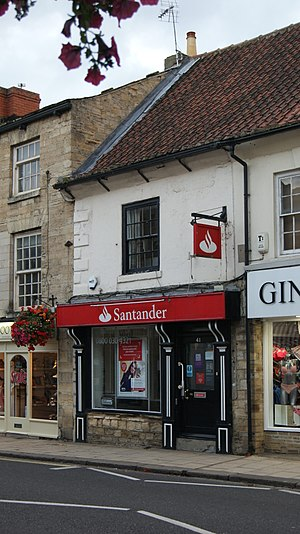 Santander UK - A branch of Santander in Wetherby, West Yorkshire replacing the towns previous Abbey National and Bradford and Bingley branches.