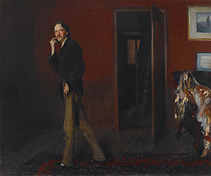 ''Robert Louis Stevenson and His Wife (1885) b...