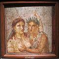 Satiro che abbraccia una menade, da pompei, casa di l. cecilio giocondo, 1-50 dc. ca, 110590.JPG