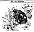 Satterfield cartoon about Russia relishing conflict between Austria and Serbia.jpg