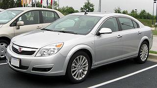 Saturn Aura Midsize sedan manufactured by Saturn