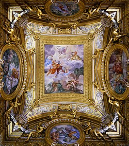 Saturn Hall ceiling in Palazzo Pitti (Florence)