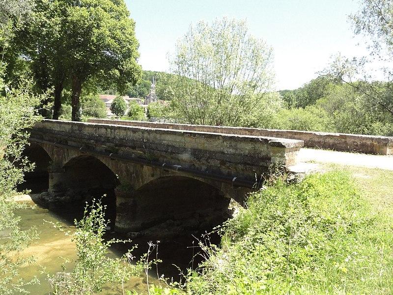Saucourt, pont du Rognon avec vue de Saucourt