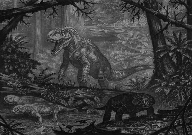 File:Saurosuchus and hyperodapedon.jpg