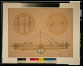 Scaled design drawing for the valve assembly of a balloon, including top, bottom, and side views LCCN2002716367.tif