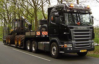 Scania PRT-range - Scania R 500 LA6x2HHA tractor unit with pre-2009 styling in the Netherlands.