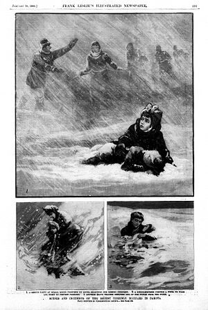 Schoolhouse Blizzard - Scenes and Incidents from the Recent Terrible Blizzard in Dakota on January 12, 1888